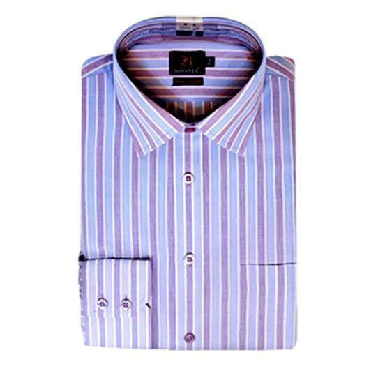 Pink and Purple Stripes Formal Shirt