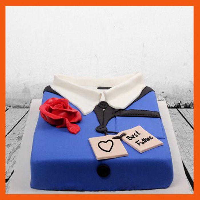 Best Father Shirt Fondant Cake
