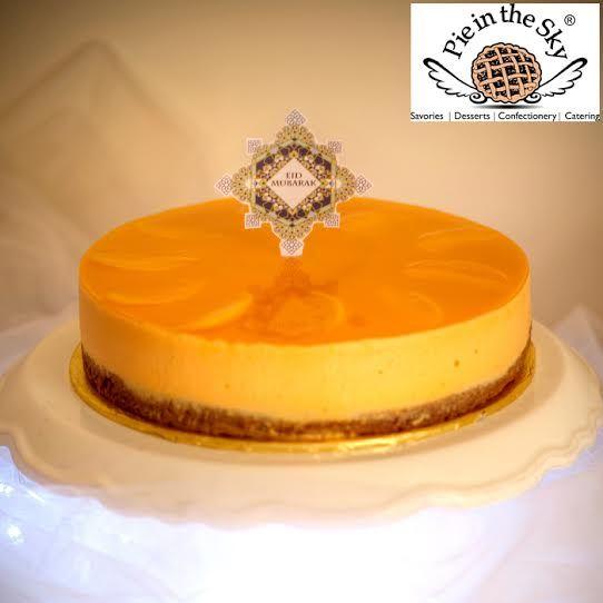 Eid Mubarak Peach & Orange Cheesecake