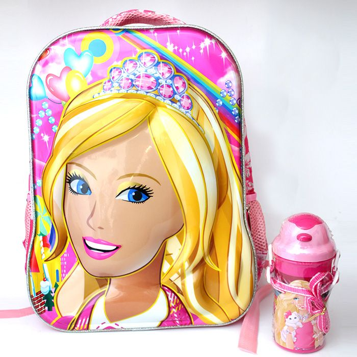 Barbie 3D Bag with Water Bottle