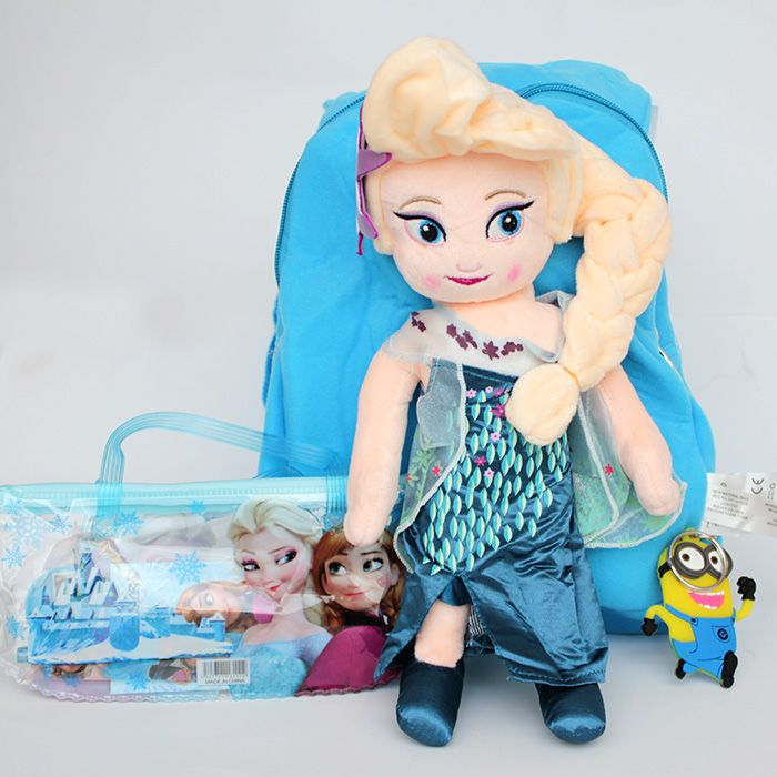 Frozen Bag With Keychain and Pencil Pouch