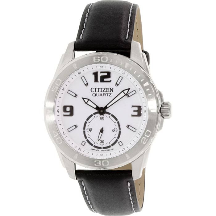 Citizen Quartz Analog Leather Strap Women Wat