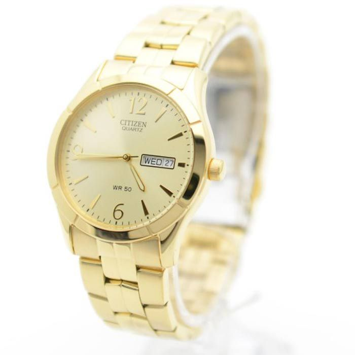 Gold Stainless-Steel Quartz Women Watch