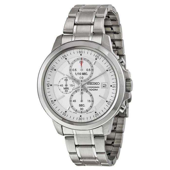 Seiko Chronograph Silver Dial Mens Watch