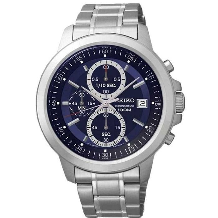 Seiko Chronograph Silver Dial Womens Watch