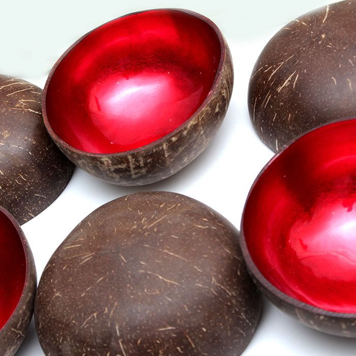 Set of Imported Vietnamese Lacquered 6 Bowls
