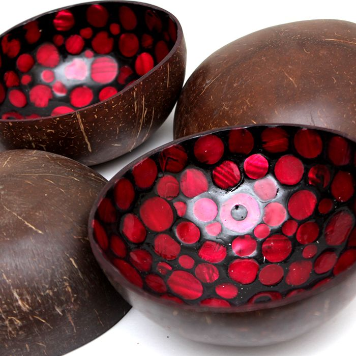 Set of Imported Vietnamese Lacquered 4 Bowls