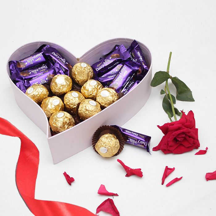The Sweetest Chocos Heart Box