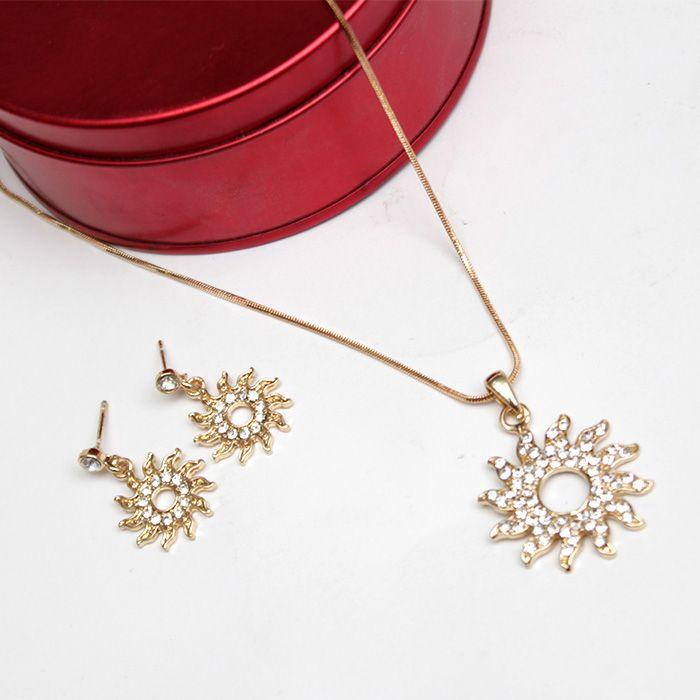 Sunflower Necklace Set