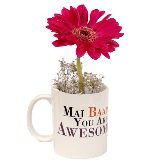 Mai Bap Mug With Flower