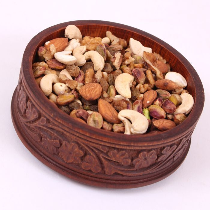 Dry Fruits in a Wooden Small Box