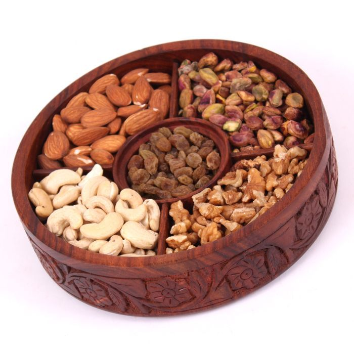Dry Fruits In Wooden Box