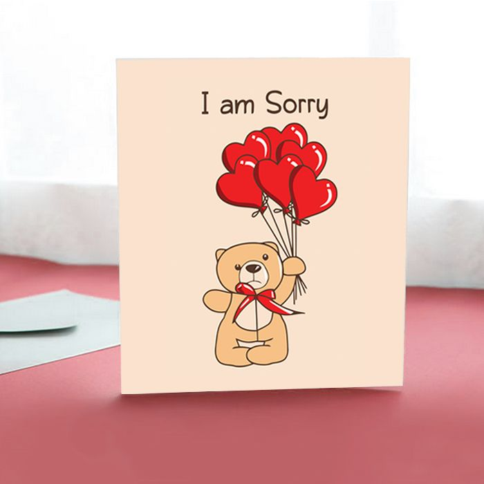 Beary Sorry Card