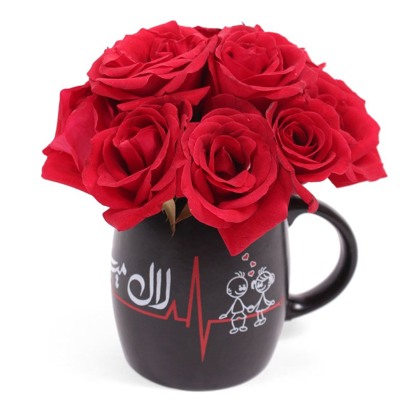 Dil Ka Haal Mug with Roses