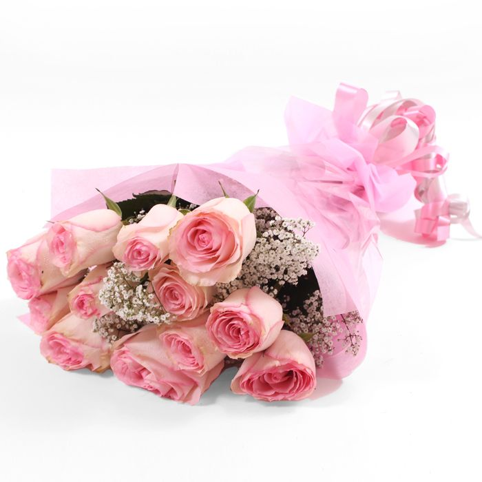 Imported Pink Roses Bouquet