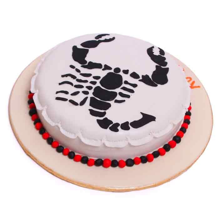 Scorpio Zodiac Cake