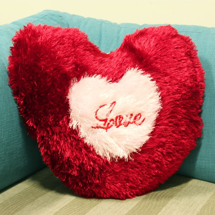 Romantic Heart Plush Pillow
