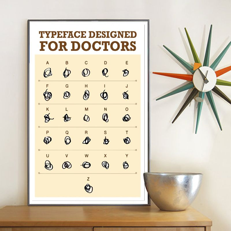 Typeface Designed Poster For Doctors