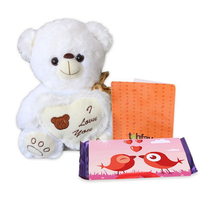 Teddy with Choco Bar & Card