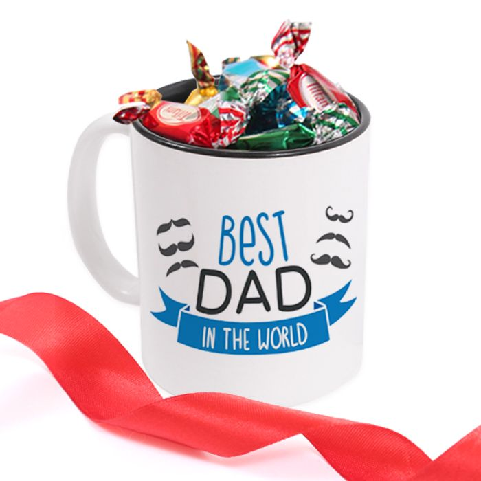 Best Dad Mug with Candies
