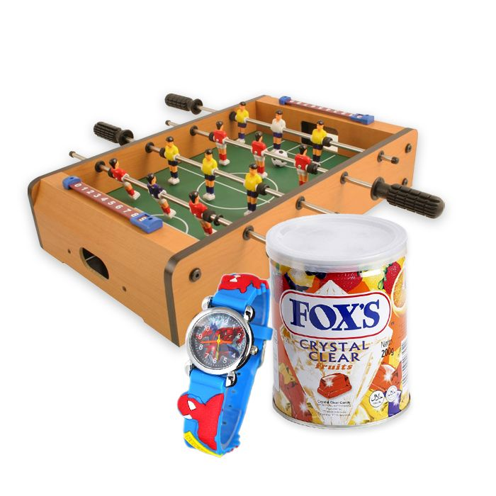 Table Football With  Watch & Fox Candy Tin