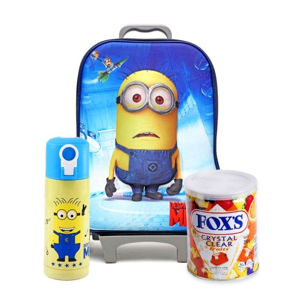 Minion School Bag With Fox Candy Tin & Water
