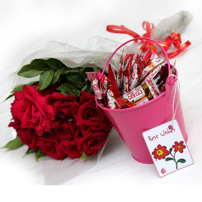 Touch of Sweet Love with Red Roses