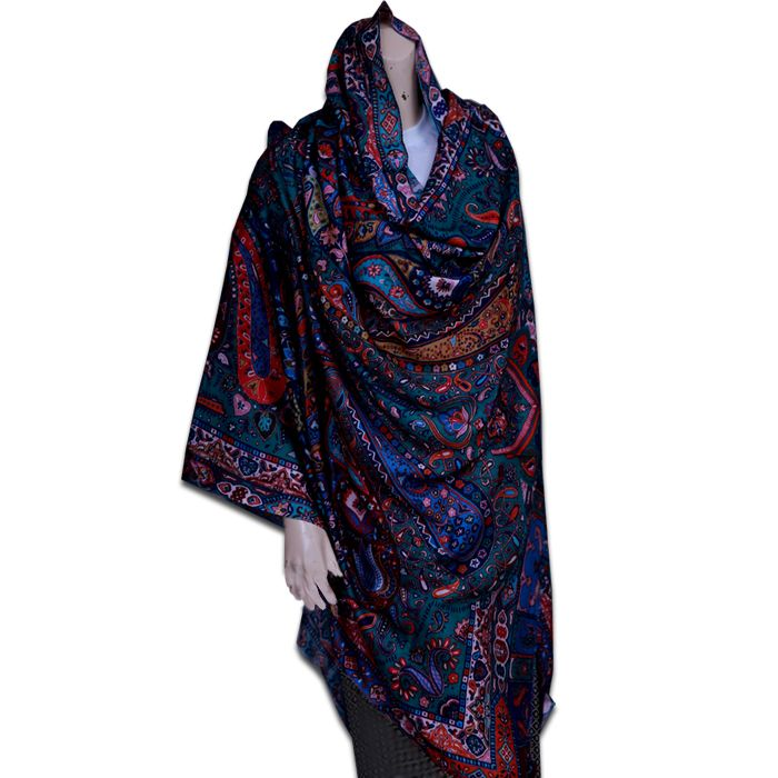 Digital Print Multi-Color Shawl