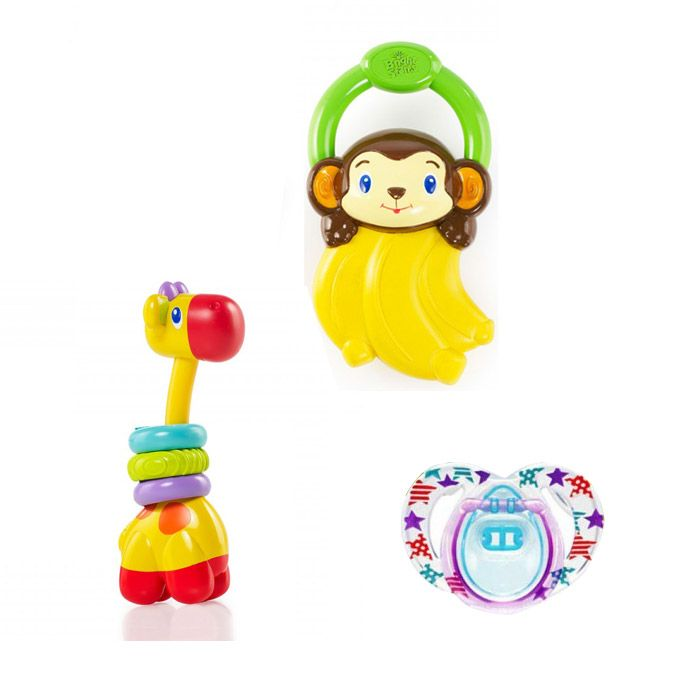 Baby Teether, Toy and Soother Set