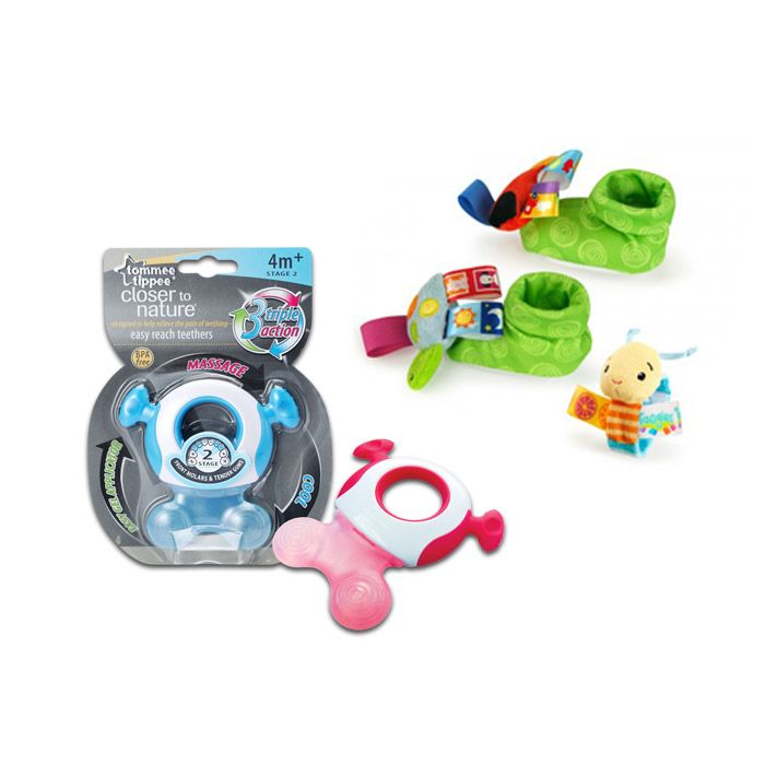 Wrist & Feet Rattle with Teether