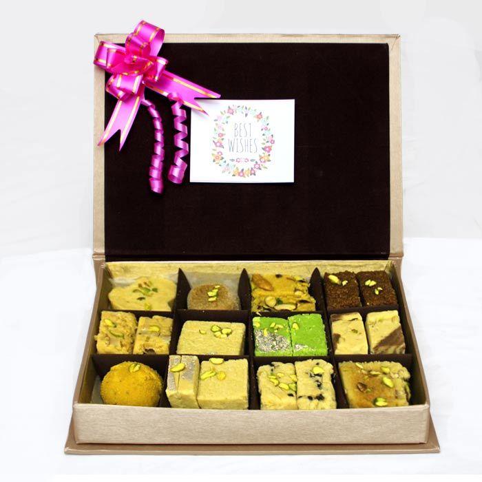 Golden Box of Sweetness - Mix Mithai