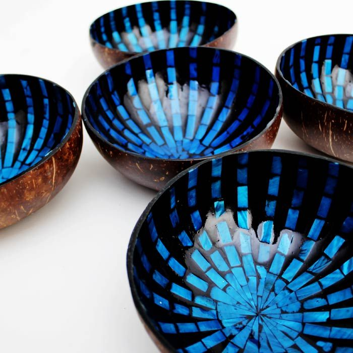 Set of Imported Vietnamese Lacquered 5 Bowls