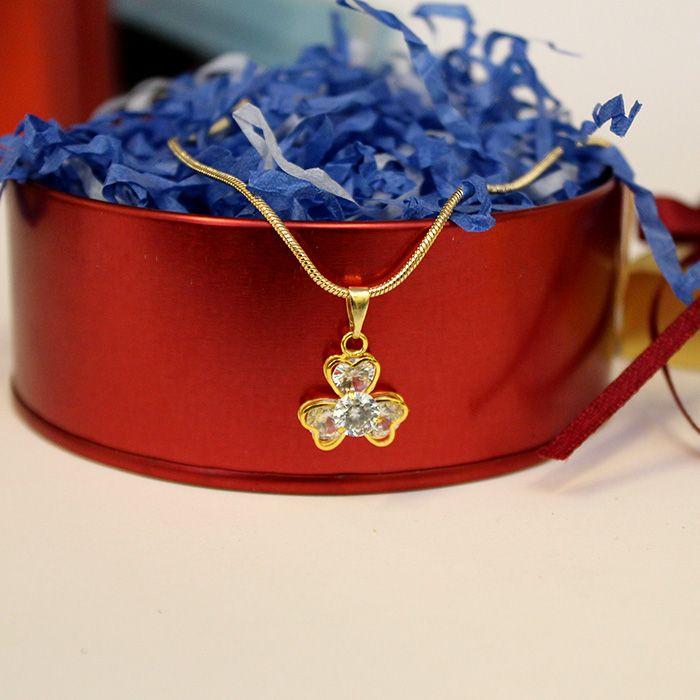 Golden Chain Necklace Set