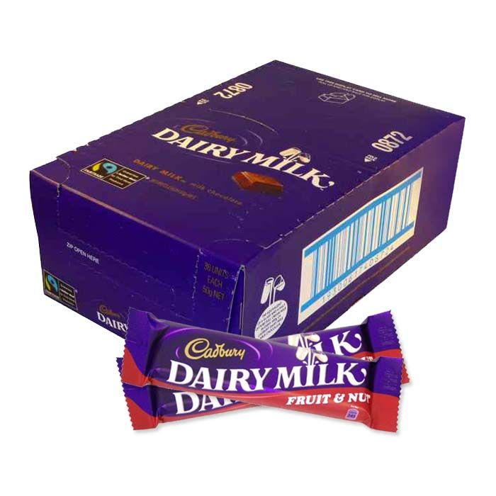 Cadbury Dairy Milk Flavored Choco Bars
