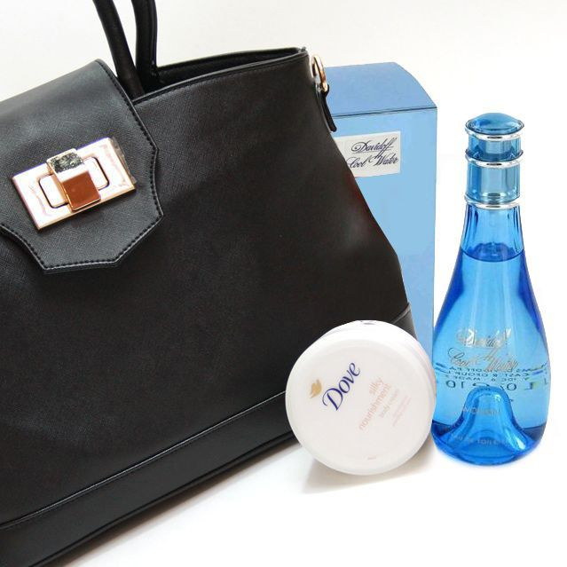 Handbag with Perfume & Body Cream