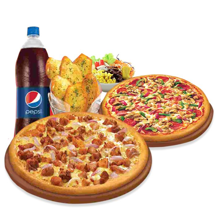 Family Pizza Deal (2 Large Pizza, 6 Bread, 1