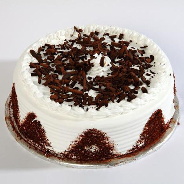 Vanilla Black Forest Cake