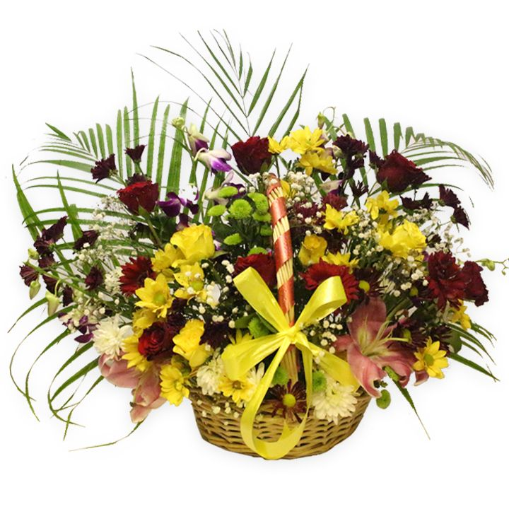 Grand Garden Flower Basket