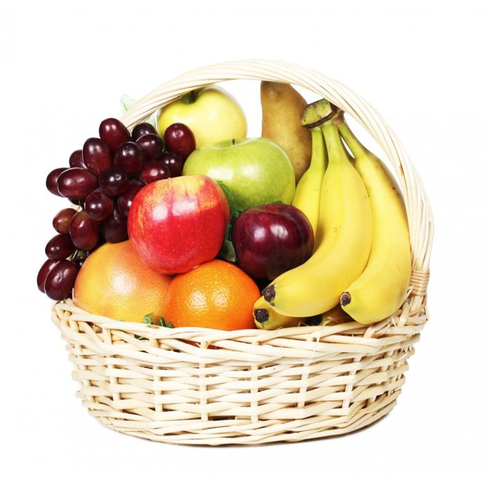 Fruit In Imported Cane Basket