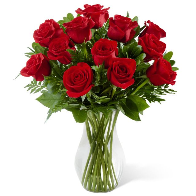 2 Dozen Local Red Roses In a Vase