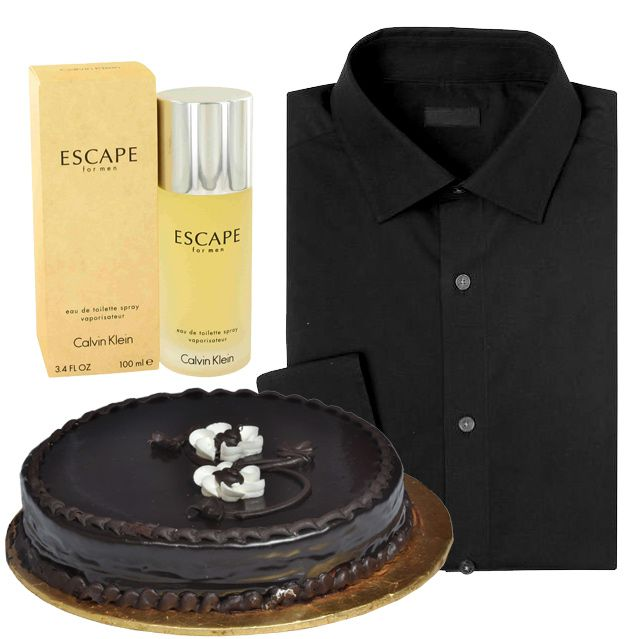 Shirt With Perfume And Cake