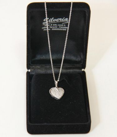 Heart Pendant With Zircon