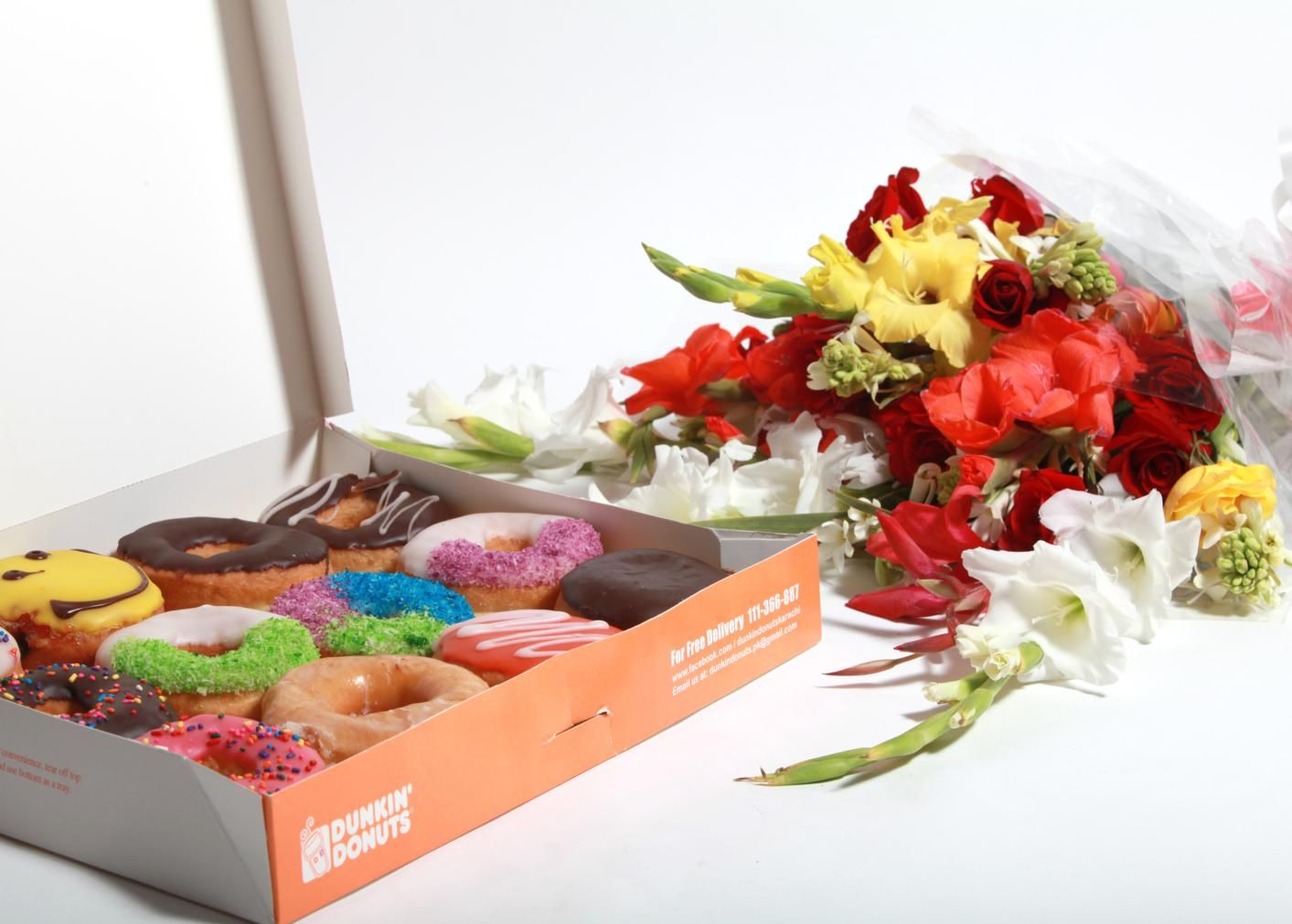 Donuts With Flowers
