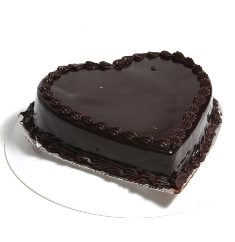 Heart Shape Chocolate Cake From 5 Star Bakery