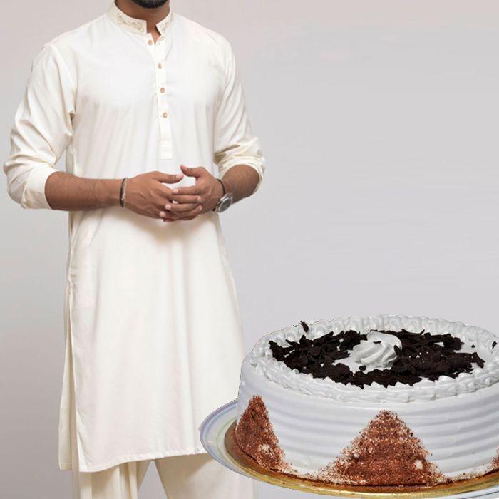 Kurta With Cake