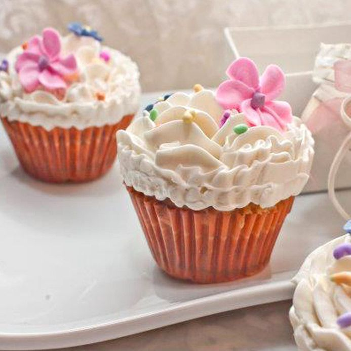 Floral Mini Cup Cakes  From Kitchen Cuisine