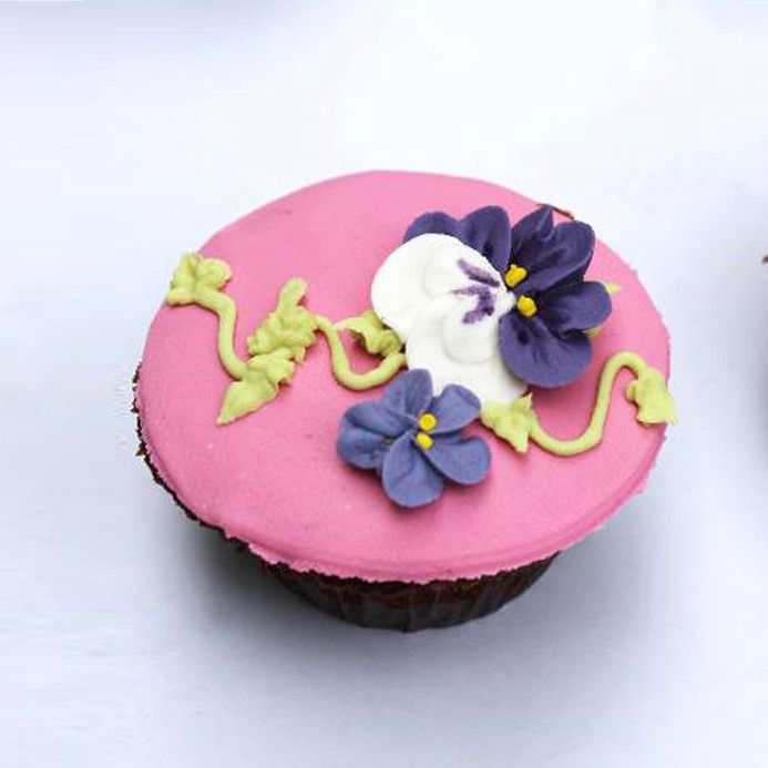 Pink Florals Cup Cakes From Kitchen Cuisine