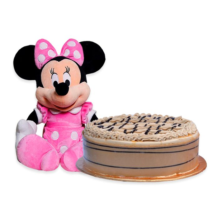 Minnie Mouse With Cake