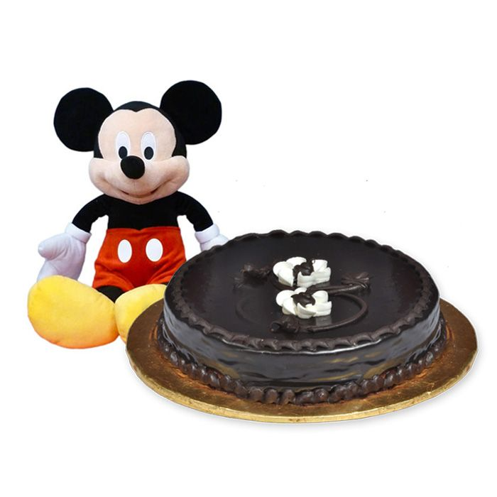 Mickey Mouse with Chocolate Cake