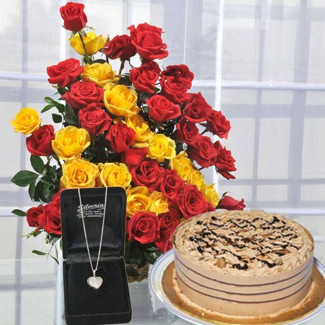 Flowers Cake And Pendant